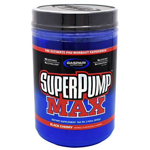 Gaspari Nutrition SuperPump MAX - Black Cherry - 40 Servings - 646511023420