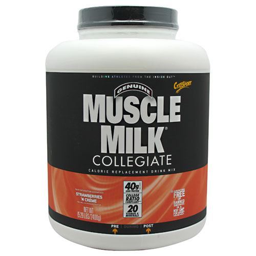 CytoSport Collegiate Muscle Milk - Strawberry Creme - 5.29 lb - 660726563366