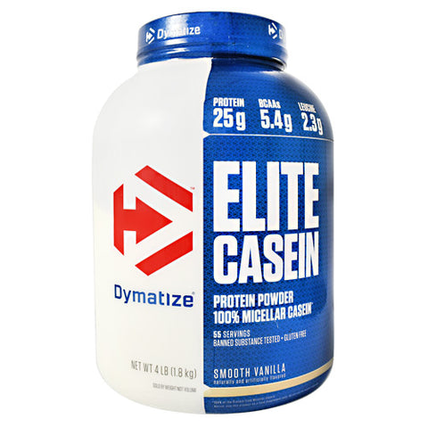 Dymatize Elite Casein - Smooth Vanilla - 4 lb - 705016226184