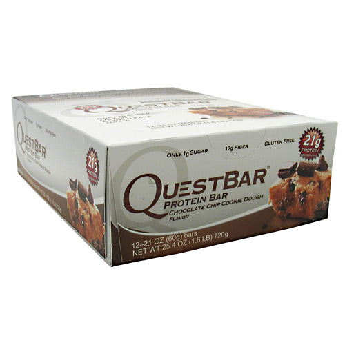 Quest Nutrition Quest Protein Bar - Chocolate Chip Cookie Dough - 12 Bars - 888849000036