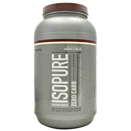 Natures Best Zero Carb Isopure - Cookies & Cream - 3 lb - 089094021979