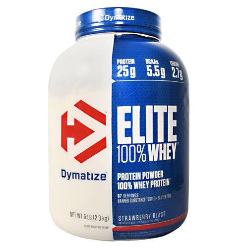 Dymatize Elite 100% Whey - Strawberry Blast - 5 lb - 705016560011