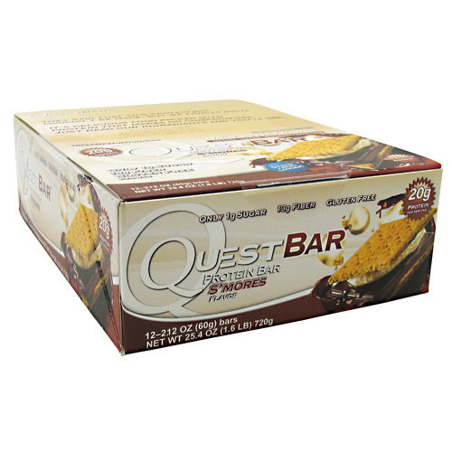 Quest Nutrition Quest Protein Bar - Smores - 12 Bars - 888849001231