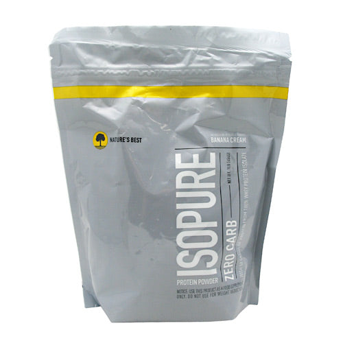 Natures Best Zero Carb Isopure - Banana Cream - 1 lb - 089094022976