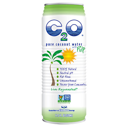 C20 Pure Coconut Water C2O Pure Coconut Water - Pure Coconut Water with Pulp - 12 ea - 853883003039