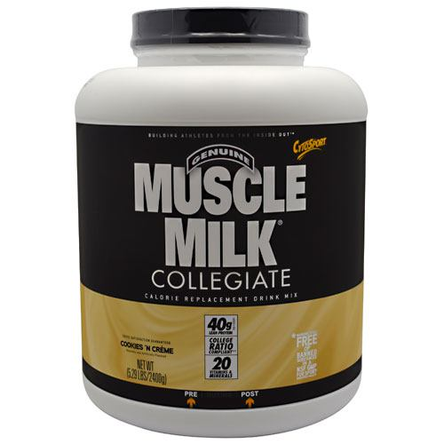 CytoSport Collegiate Muscle Milk - Cookies N Creme - 5.29 lb - 660726563465