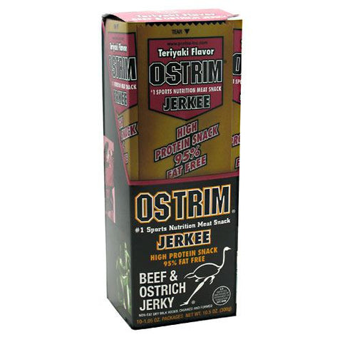 Ostrim Beef & Ostrich Jerky - Teriyaki - 10 Packages - 613911104196