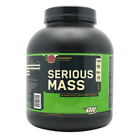 Optimum Nutrition Serious Mass - Strawberry - 6 lb - 748927023015