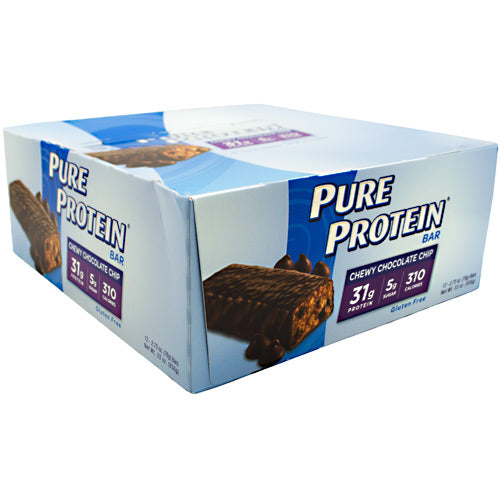 Worldwide Sport Nutritional Supplements Pure Protein High Protein Bar - Chewy Chocolate Chip - 12 Bars - 749826126067