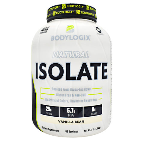 BodyLogix Natural Isolate Protein - Vanilla Bean - 4 lbs - 694422031430