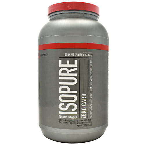 Natures Best Zero Carb Isopure - Strawberries & Cream - 3 lb - 089094021191