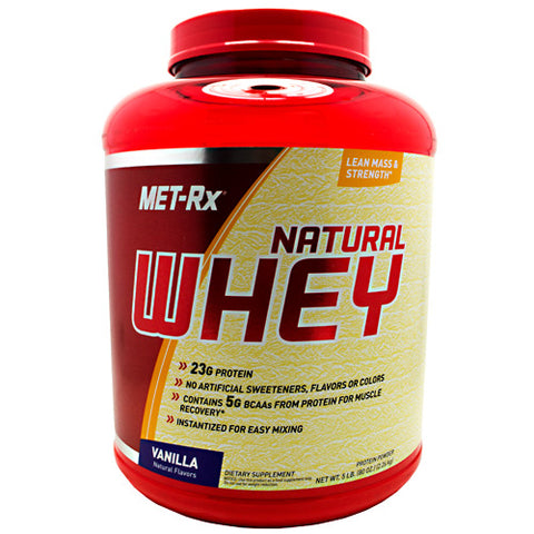 MET-RX Natural Whey Protein - Vanilla - 5 lb - 786560177726