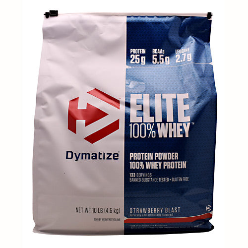 Dymatize Elite 100% Whey - Strawberry Blast - 10 lb - 705016560127