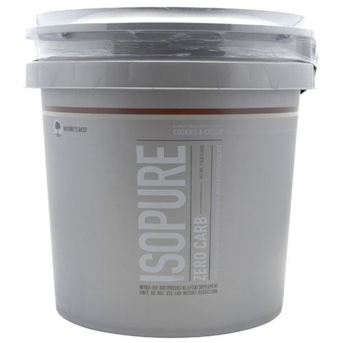 Natures Best Zero Carb Isopure - Cookies & Cream - 7.5 lb - 089094021573