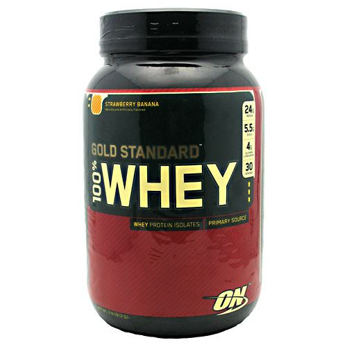 Optimum Nutrition Gold Standard 100% Whey - Strawberry Banana - 2 lb - 748927029871