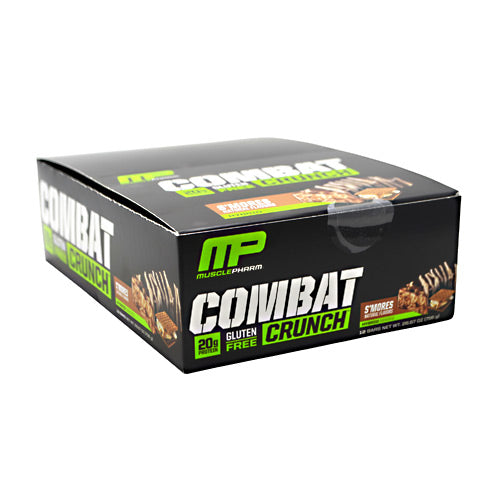 Muscle Pharm Hybrid Series Combat Crunch - Smores - 12 Bars - 653341416711