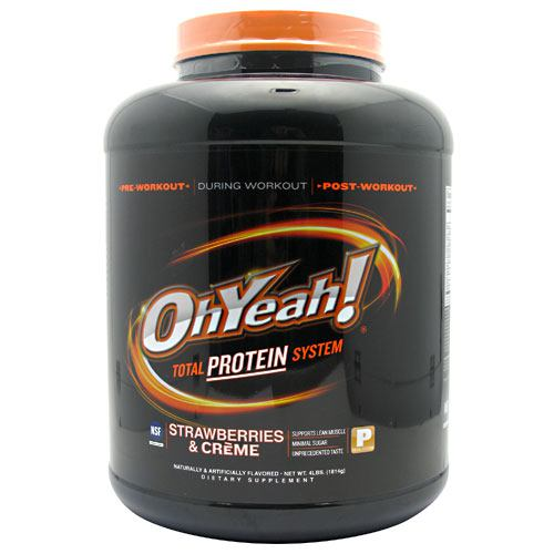 ISS OhYeah! Protein Powder - Strawberries & Creme - 4 lb - 788434110495