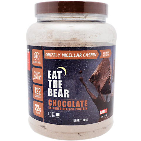 Eat The Bear Grizzly Micellar Casein - Chocolate - 1.6 lb - 637262797128