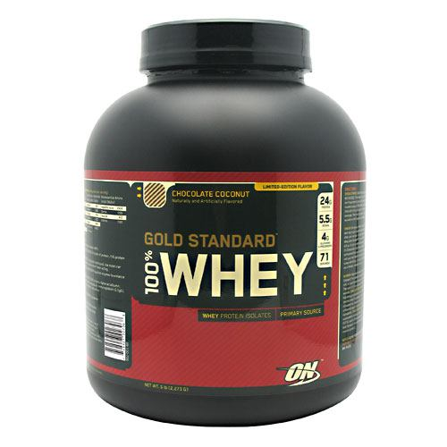 Optimum Nutrition Gold Standard 100% Whey - Chocolate Coconut - 5 lb - 748927027068