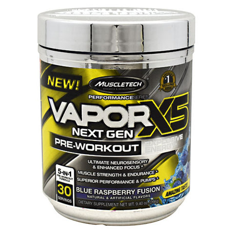 MuscleTech Performance Series VaporX5 Next Gen - Blue Raspberry Fusion - 30 Servings - 631656710922