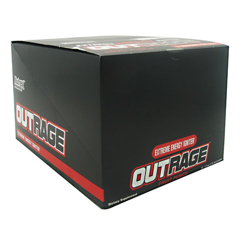 Nutrex Outrage Energy Shot - Fruit Punch - 12 Bottles - 857268005144