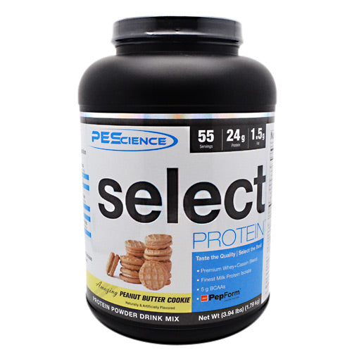 PEScience Select Protein - Peanut Butter Cookie - 55 Servings - 040232543104