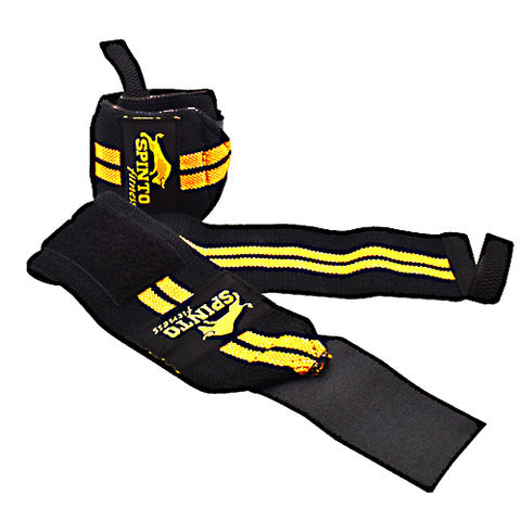 Spinto Wrist Wraps - Gold -   - 636655966196