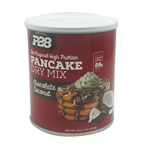 P28 Foods The Original High Protein Pancake Dry Mix - Chocolate Coconut - 16 oz - 738416000191