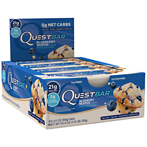 Quest Nutrition Quest Protein Bar - Blueberry Muffin - 12 Bars - 888849004638