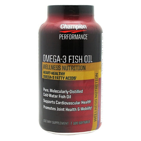 Champion Nutrition Wellness Nutrition OMEGA 3 Fish Oil - 120 Softgels - 027692202666