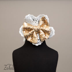 Lily Beige&Gold Headband