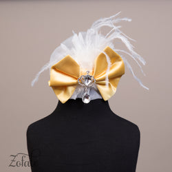 Tulip White&Yelow Headband