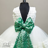 Orchid White&Green Dress
