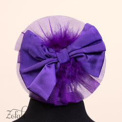 Peony Silver and Purple Headband