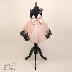 Tulip Black&Apricot Dress