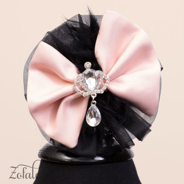 Tulip Black&Apricot Headband