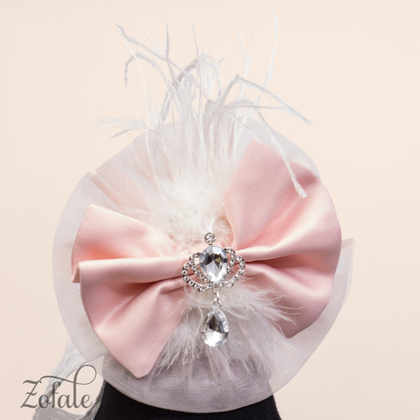 Tulip Silver&Peach Headband
