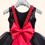 Peony Black&Red Dress