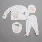 Alexi Butterfly Rose 3 Pieces Newborn Set