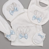 Antoine Crown bleu Sky 3 Pieces Newborn Set