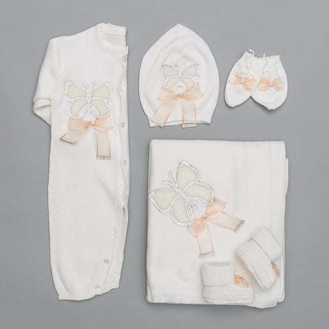 Victoire Peach Knitted Set