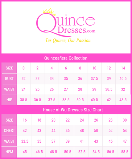 House Of Wu Size Chart Quincedresses Com