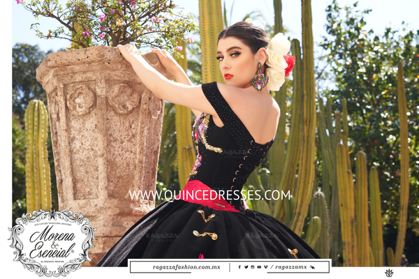 FLORAL OFF SHOULDER QUINCEANERA DRESS BY RAGAZZA FASHION MV24-124