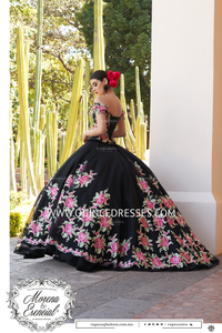 FLORAL OFF SHOULDER QUINCEANERA DRESS BY RAGAZZA FASHION M20-120