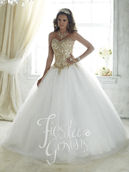 Gold and white 15 dress