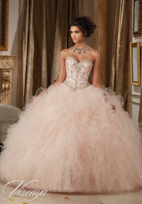 VIZCAYA BY MORI LEE 89113  QUINCEANERA DRESS