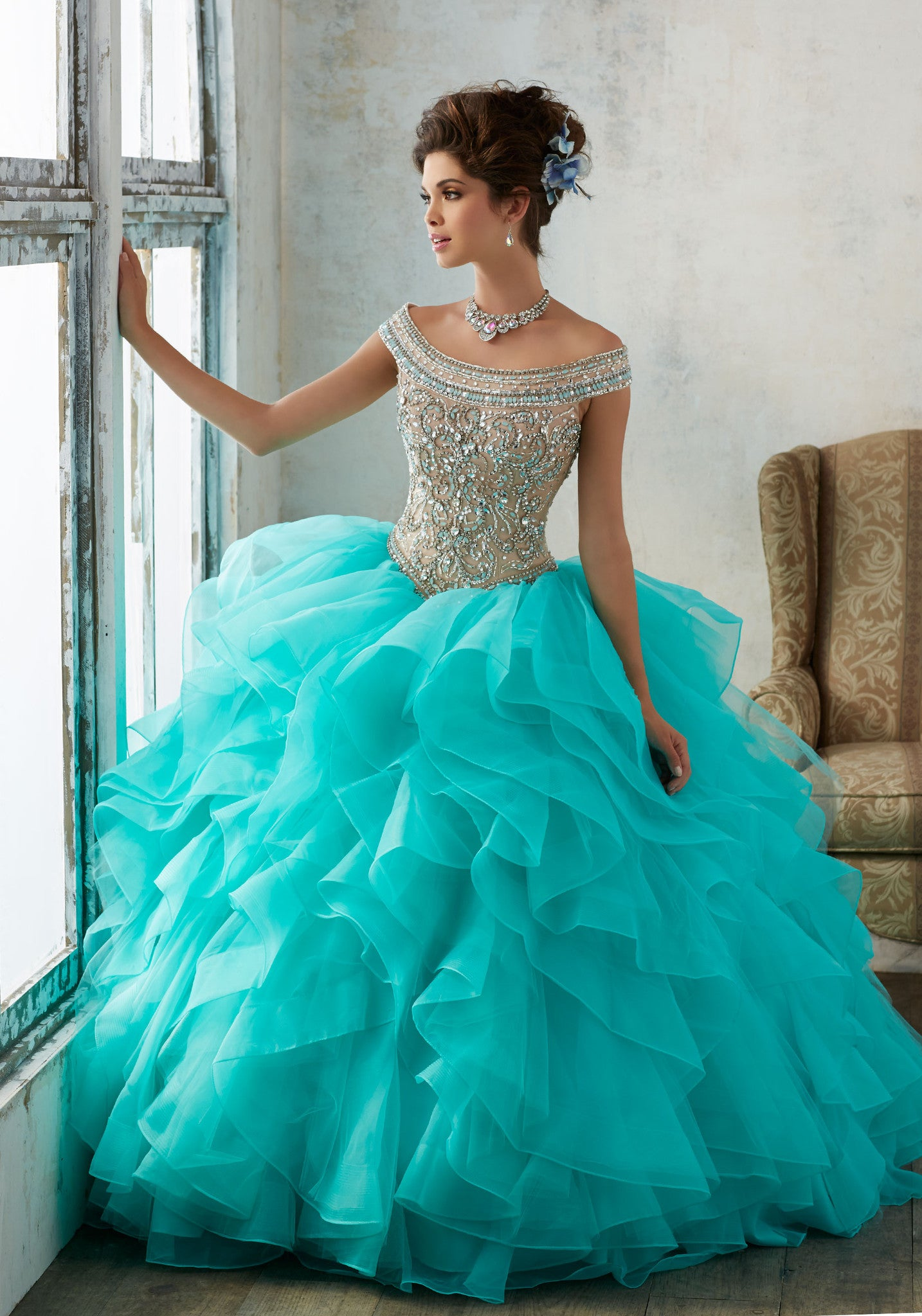 4a137629fa9 VIZCAYA BY MORI LEE 89138 QUINCEANERA DRESS - QuinceDresses.com