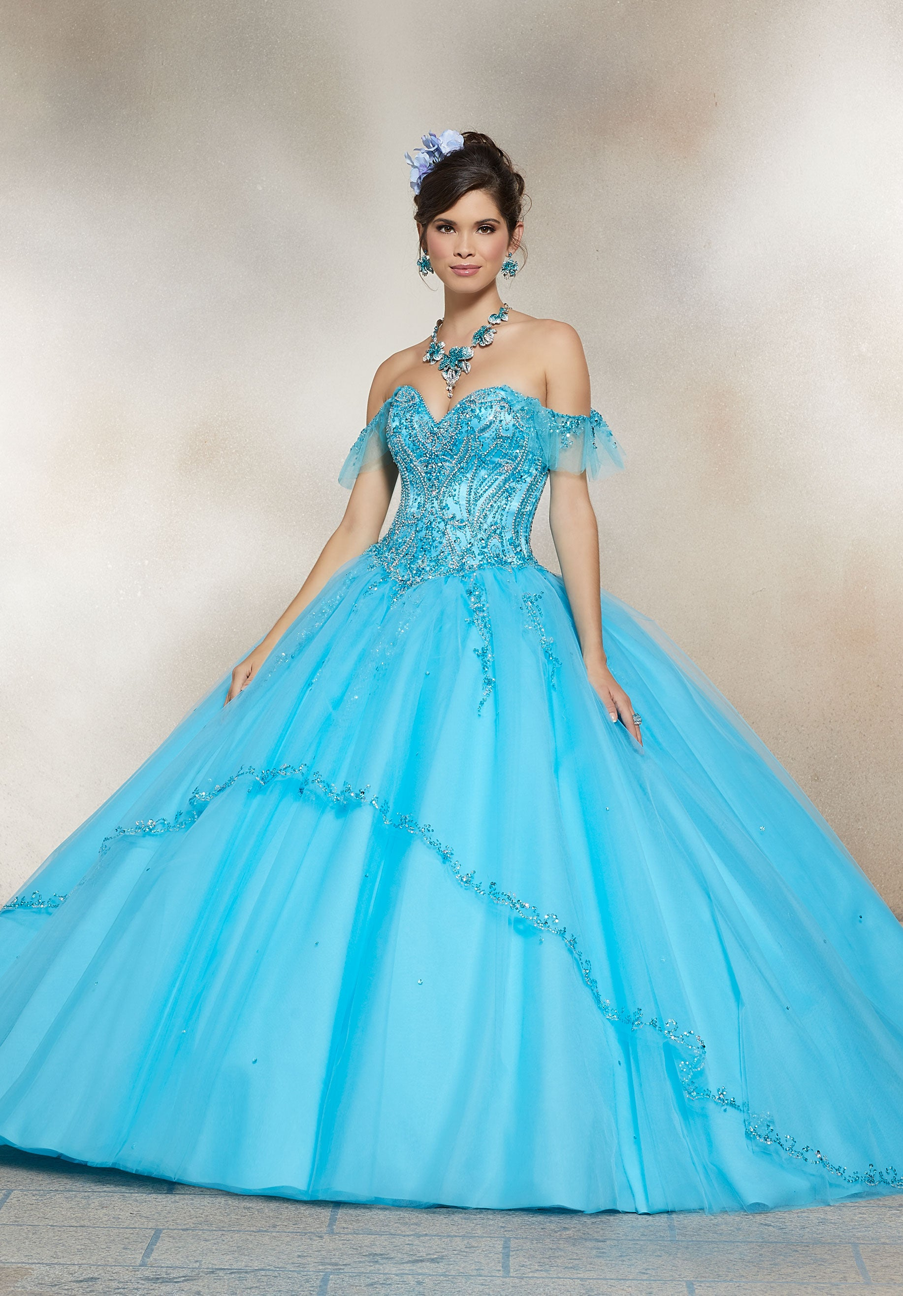 0f3dda005e Aqua Blue And Silver Quinceanera Dresses - Data Dynamic AG