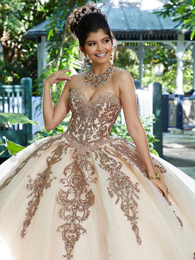 b19f0689e63 Off the Shoulder Evening Gown with Embroidery and Beading ...