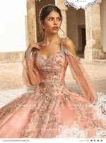 BEADED COLD SHOULDER QUINCEANERA DRESS BY RAGAZZA FASHION V95-395